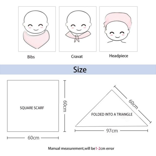 Couverture en mousseline 70% bamboo30 % coton   Écharpe serviette pour bébé, couches douces, nouveau-né, imprimé danimaux, Bandana, tissu de bavette, mignon 2020