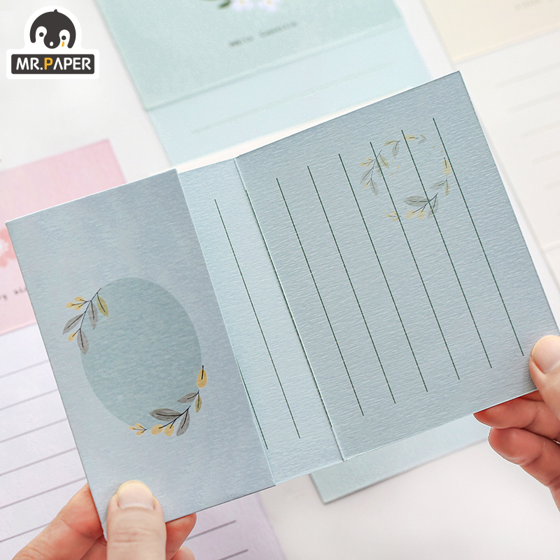 Mr.Paper Chinese Ancient Style Flowers Greeting Card Butter Paper Envelopes with Seal Stickers Wonderful Creative Gift Envelopes 4