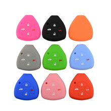 OkeyTech Silicone 4 Buttons Soft Rubber Car Key Cover Case For Toyota Camry Corolla 4 Runner RAV4 Yaris For Scion xD xB iQ tC