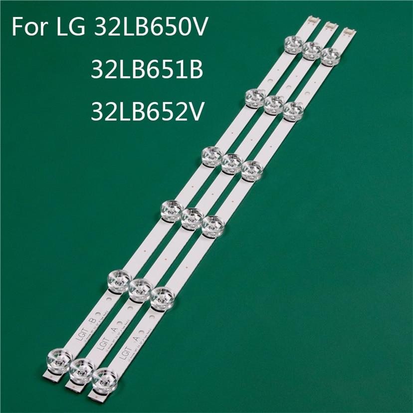LED TV Illumination Part Replacement For LG 32LB650V-ZE 32LB651B-ZC 32LB652V-ZA LED Bar Backlight Strip Line Ruler DRT3.0 32 A B