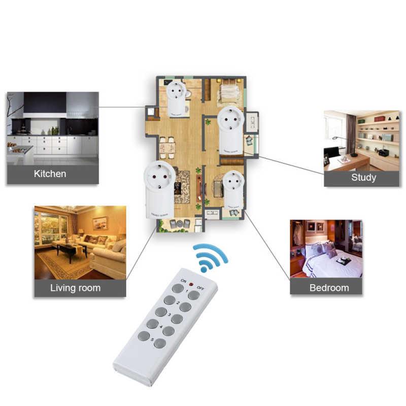 Oszczędność energii inteligentne gniazdo zdalnego sterowania WiFi gniazdo sygnału RF gniazdo pracować z Broadlink Rm-pro Wifi wtyczki inteligentny wtyczka ue i usa