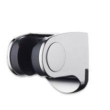 Shower Head Handset Holder Chrome Bathroom Wall Mount Adjustable Bracket Head Holder Modern ABS Rack Portable With Suction Cup