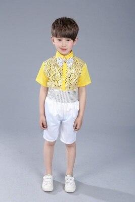 Балетный костюм, одежда для хора, платье саронга, пышная балетная юбка принцессы для девочек, костюм для мальчиков, желтый костюм для выступлений - Цвет: 11