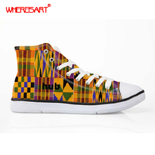 WHEREISART Ankara Style African Dashiki Canvas Shoes for Wom