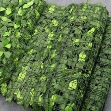 1M artificiel Faux lierre feuille intimité clôture jardin clôture plantes vertes herbe mur hôtel boutique arbre de noël décor à la maison plantes clôture