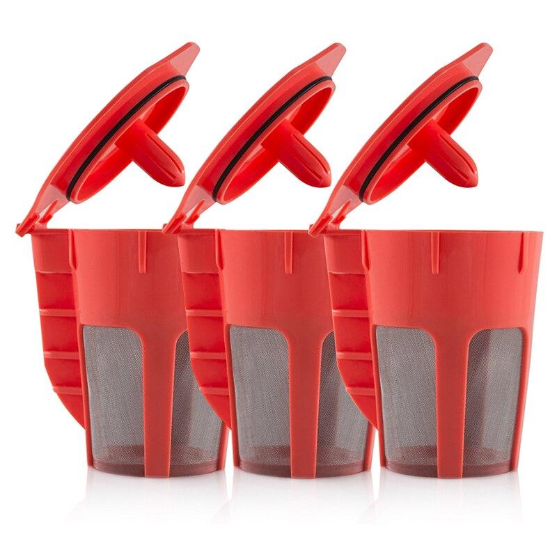 For Keurig K Cups Mini Plus Refillable Coffee Pods Capsule Reusable Filter Tool