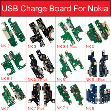 Lader Usb Jack Board Voor Nokia 2 2.1 3 3.1 Plus 5 5.1 6 6.1 7 7.1 Plus 8 Opladen usb poort Board Module Vervangende Onderdelen
