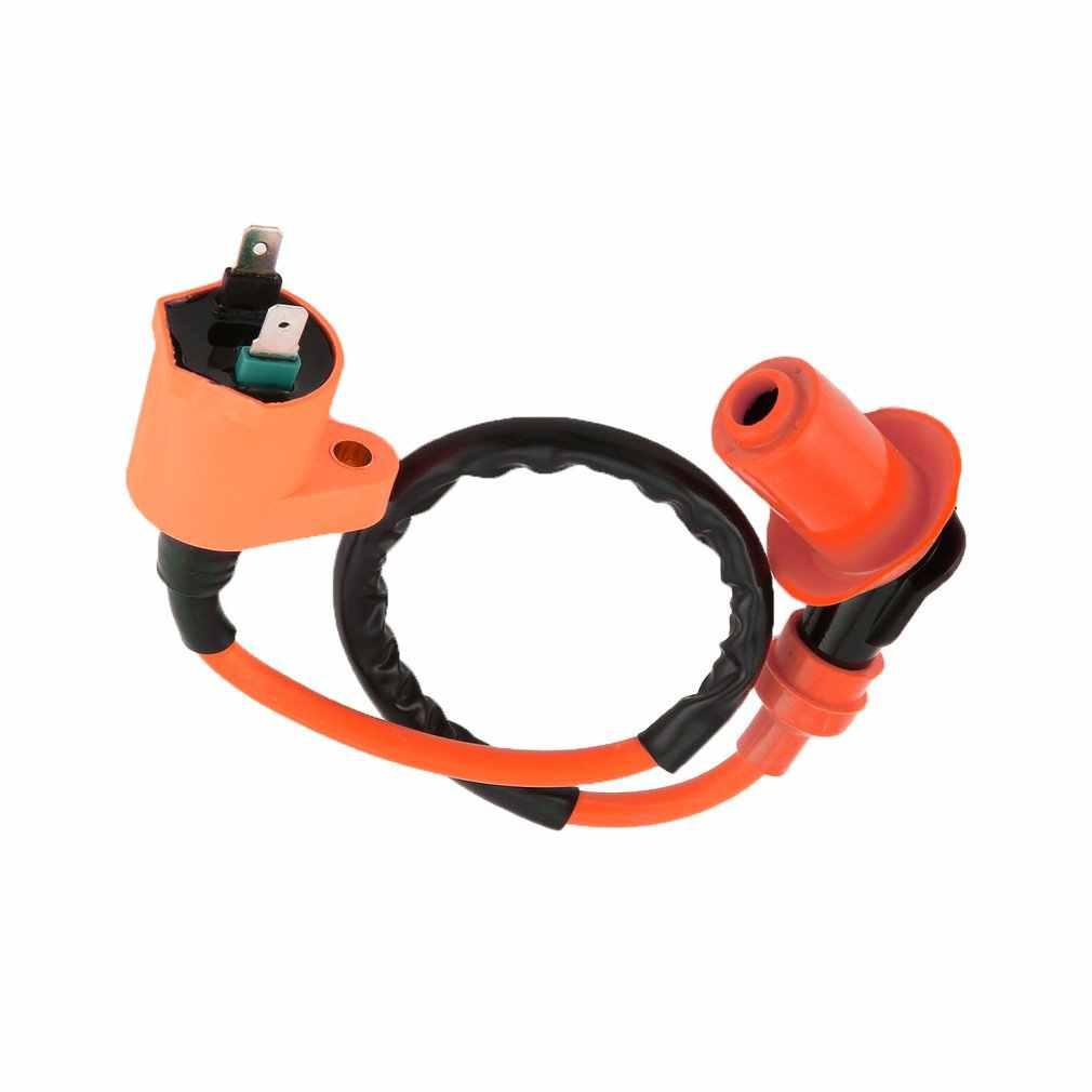 Bobina de encendido naranja modificada 6-Pin AC Igniter A7TC bujía para GY6 50CC 125CC 150CC