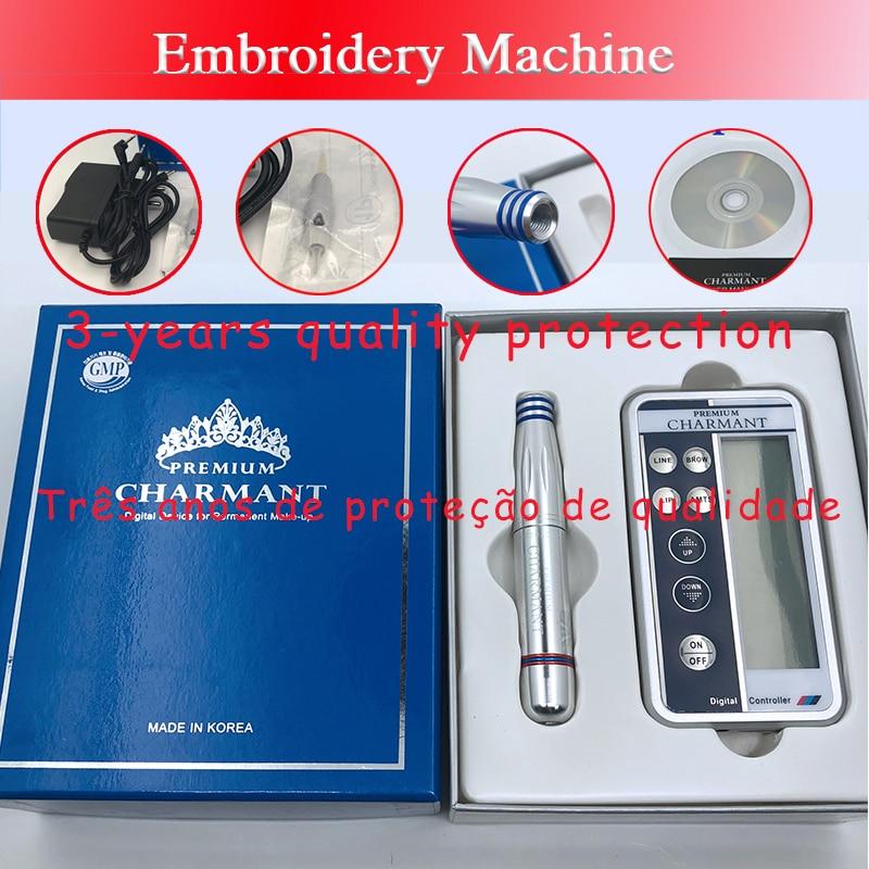 Charmant Permanent Makeup Machine Kit For Eyebrow Tattoo Lip Eyeliner Microblading Pen Set Dermografo Make Up Microblade Machine