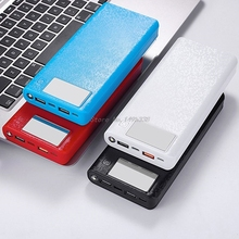 """QC 3.0 USB הכפול + סוג C פ""""ד 5V/3A 8x18650 סוללה DIY כוח בנק תיבה LED אור מהיר מטען עבור טלפון סלולרי Tablet"""