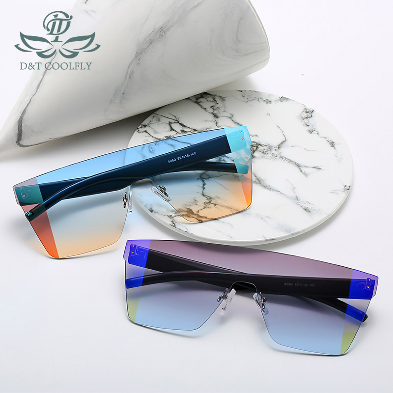 D&T <font><b>2020</b></font> New Fashion Sunglasses for Men and Women Trendy Rimless Multicolor Sunglasses Classic Brand Design Sunglasses UV400 image