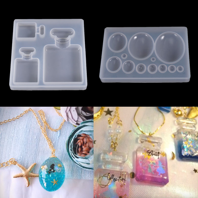 PopularDIY Oval Bottle UV Resin Jewelry Tools Dried Flower Molds Handmade Pendant Jewelry Tool
