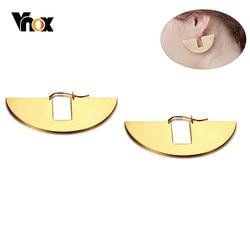 Vnox New Unique Geometric Earrings for Women Gold Tone Stainless Steel Fan-shaped Drop Earring Girl Party Gifts brinco