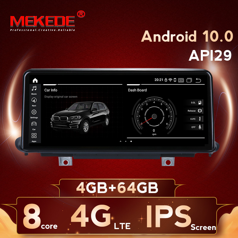MEKEDE <font><b>10.25</b></font> inch 4G RAM 64G ROM <font><b>Android</b></font> 10 System Car GPS Navigation Media Stereo Radio For <font><b>BMW</b></font> X5 F15 X6 2014- 2017 NBT System image