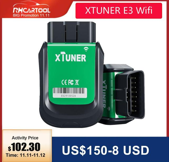 XTUNER E3 Wifi OBD2 Car Diagnostic Tool ODB2 ABS Engine SRS AC Read Fault Code Automotive Scanner Free Upgraded Vpecker Easydiag