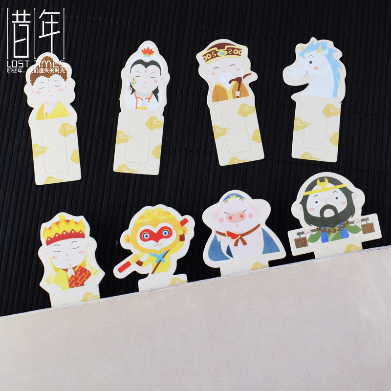 Year Creative Journey To Bookmark Paper Cartoon Creative Cool Bookmark Clip Sun Wukong Chinese-style Card Gift