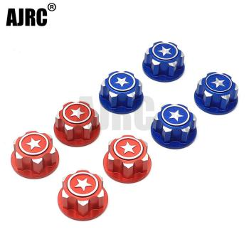 Metal 17mm Hex Wheel Mount Nuts Set for Traxxas X-MAXX Summit E-ROVE RC Car Parts area rc wheel extenders for traxxas x maxx 1 5