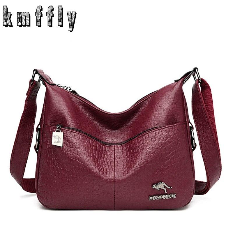 Crossbody Bags For Women Messenger Bag Designer Leather Handbags Sac A Main Vintage Ladies Shoulder Bag Hand Bags Bolsa Feminina