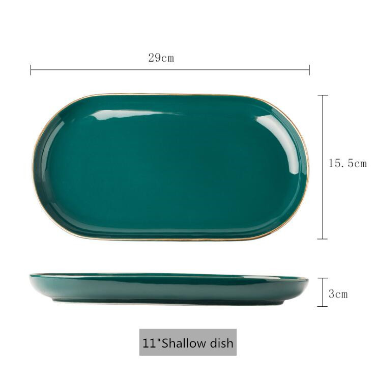 11 inch Oval plate