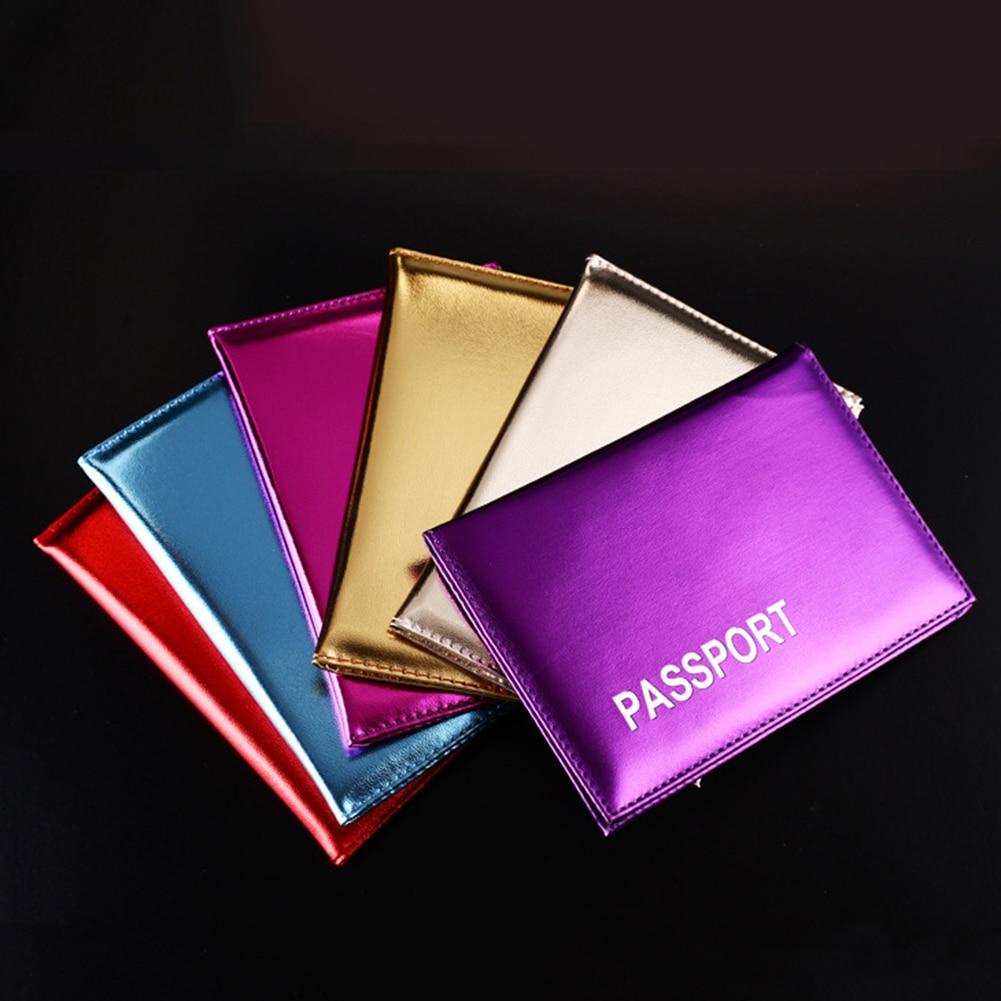 2019 NEW Foreign Trade Russia Laser Passport Clip Mirror Glossy Passport Book Glossy Ticket Holder Travel Simple Passport Case