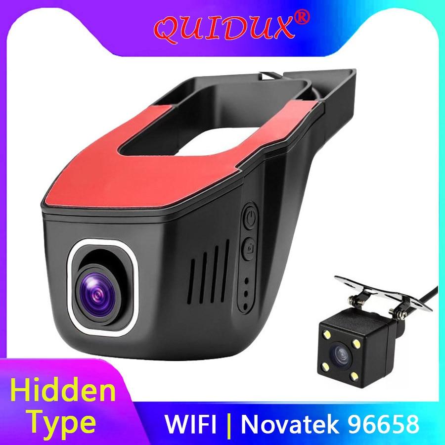 QUIDUX Novatek 96658 Wifi Car DVR Video Recorder FHD 1080p Wireless APP Manipulation IMX 322 Hidden Dash Cam camera Registrator