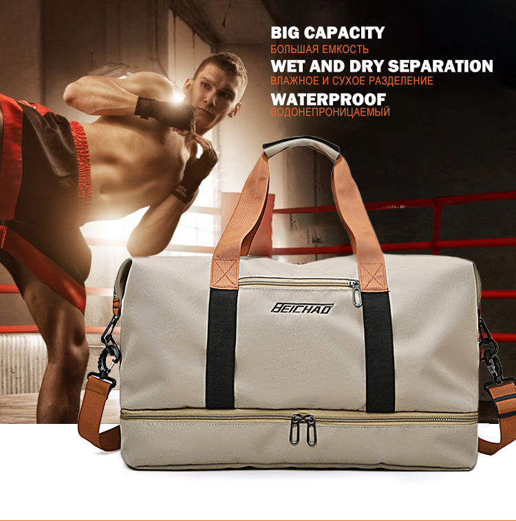 Esporte feminino ginásio saco grande bolsa de