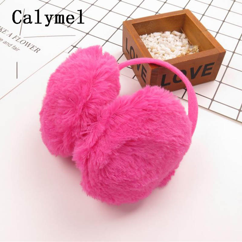 Calymel Autumn And Winter Warm Fashion New Fur Solid Color Ladies Earmuffs And Comfortable Unisex Skiing Fur Headphones