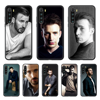 Chris Evans Handsome guy Celebrity Phone case For Xiaomi Redmi Note 8T 8 9 7 7A 8 8A 4 5 9S Pro black Etui painting waterproof image