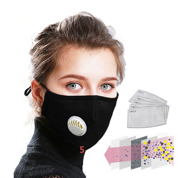 PM2.5 FPP3 Anti Pollution Mouth Mask Dust Respirator Washable Reusable Cotton Masks Mouth Muffle For Flu/Bacteria/Allergy/Travel