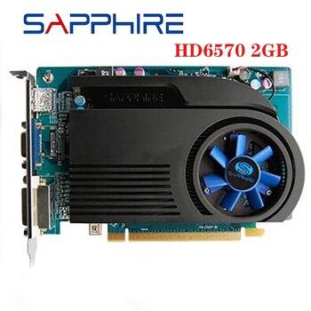 Видеокарты SAPPHIRE HD 6570 2 Гб GDDR3 для AMD, графическая карта GPU Radeon HD6570, офисный компьютер для AMD карты HDMI, б/у оригинал