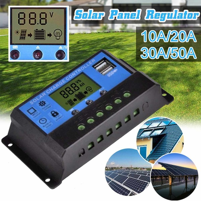 20W 12V 18V Solar Panel with battery Clip+10/20/30/50A Solar Car Charger Controller Solar Cells for Outdoor Camping Hiking 2