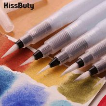 9pcs/Set Refillable Paint Brush Water Color Pencil Soft Watercolor Pen For Beginner Painting Drawing Art Supplies