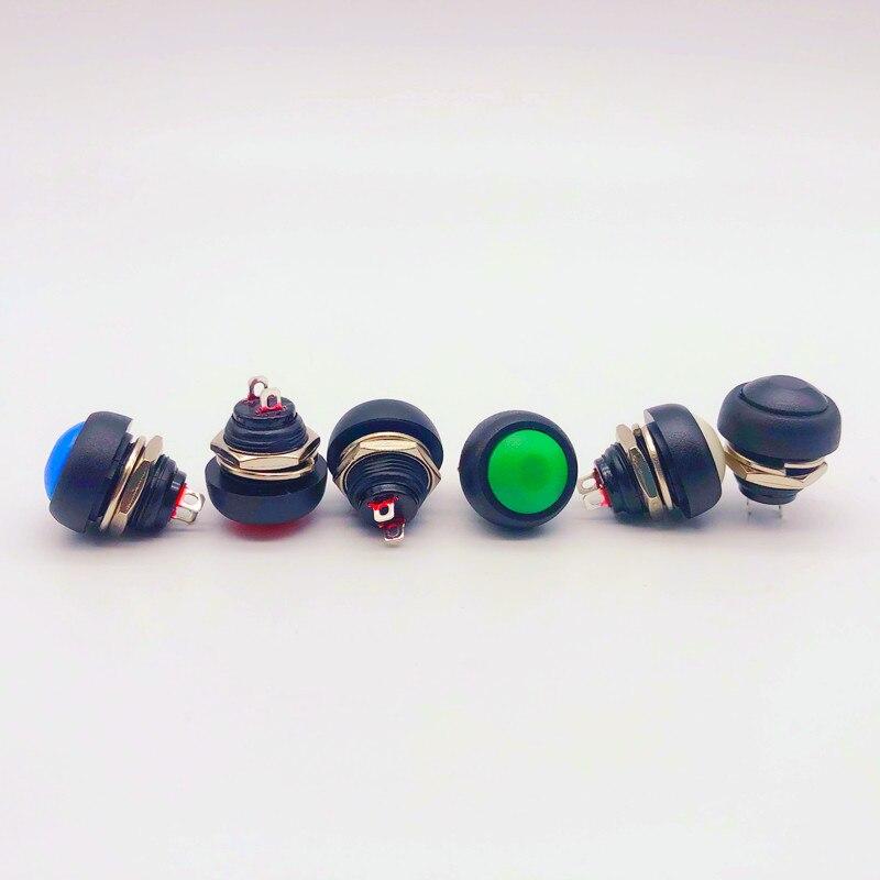 1 pces 2pin mini switch 12mm 1a à prova dpbágua interruptor pbs33b 12v momentâneo botão interruptor reset não-travamento pbs-33b