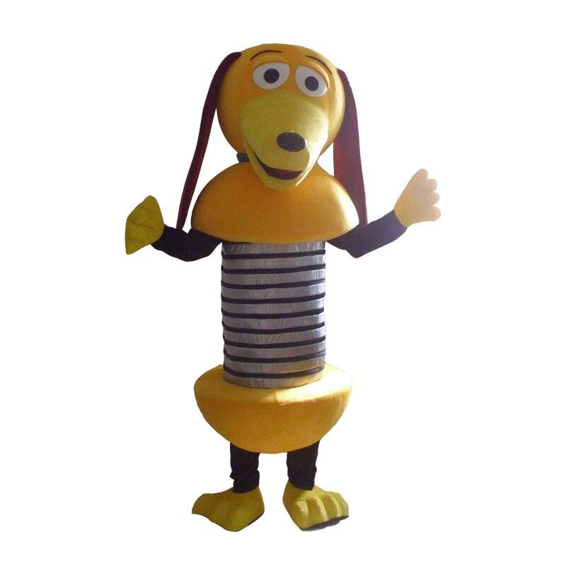 Smart jaune Slinky chien jouet histoire mascost costume chiot toutou mascotte Costume pour adulte Halloween fête événement