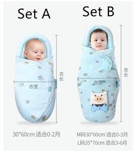 Image 5 - Collo protezione del bambino swaddle neonati anti shock sacco a pelo Neonato cura del bambino a testa piatta cuscino coperta swaddles cotone wrap