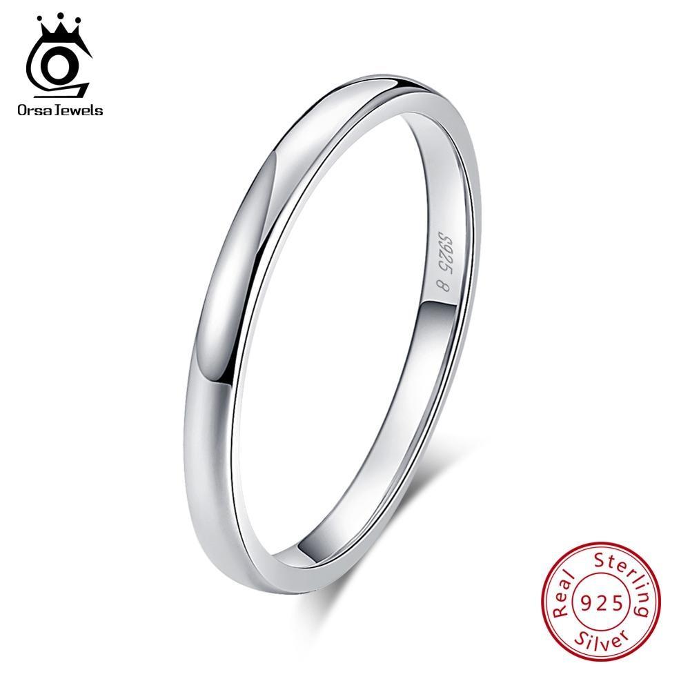 Orsajewels ® 100/% Solide Argent Sterling 925 Femmes Anneaux Aaa Zircone cubique Marquise Cut