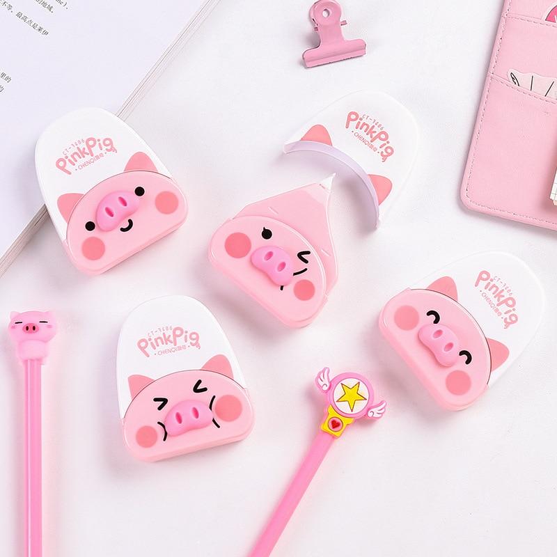 Creative Hipster Correction Tape Cute Cartoon Pig Modeling Corretion Pen/fluid Correction Tape South Korea Students Office Stati