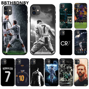 Ronaldo Football superstar Lionel Messi TPU black Phone Case Cover Hull For iphone 11