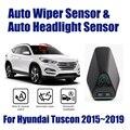 Для hyundai Tuscon 2015 ~ 2019 смарт-авто система ассистента вождения автомобиля автоматический датчик стеклоочистителя дождя s & фар R & D датчик