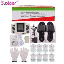 Estimulador eléctrico de cuerpo completo, dispositivo para terapia de relajación muscular, masajeador de pulso de acupuntura Tens con 16 almohadillas, zapatillas, guantes, caja de regalo