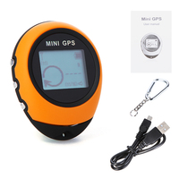 PG03 MINI GPS Keychain Handheld Navigation USB Rechargeable Locator Tracker with Compass For Outdoor Travel Climbing