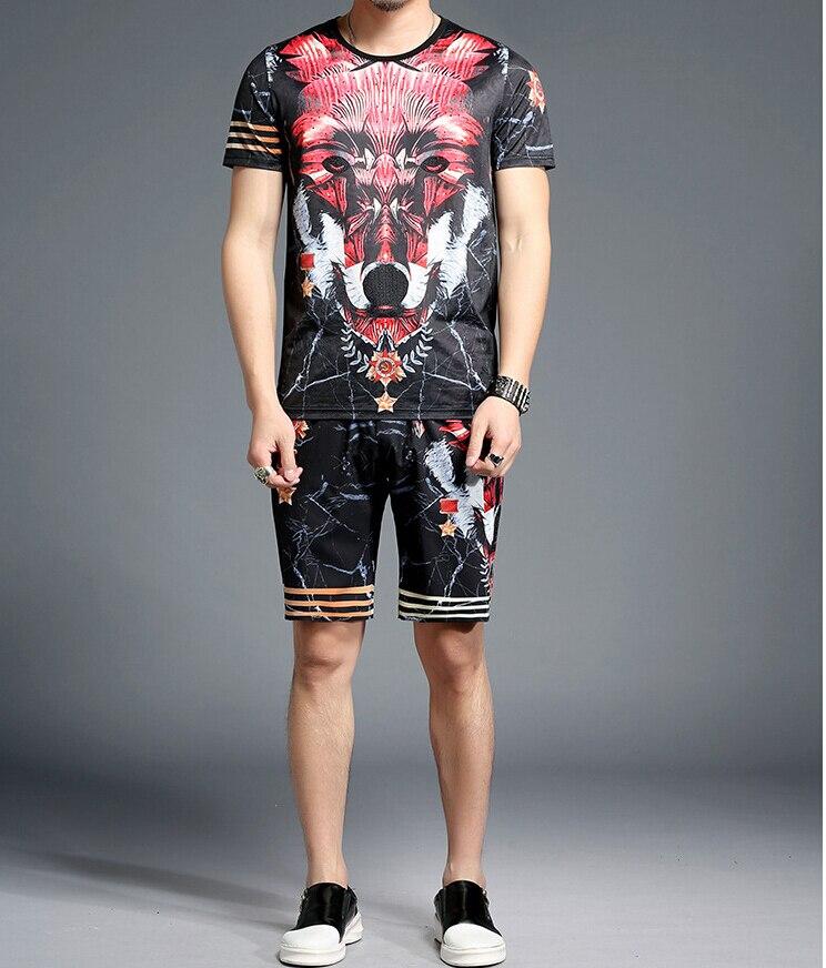 2020 Summer Short Tracksuit New Design Men Sets Suit Men