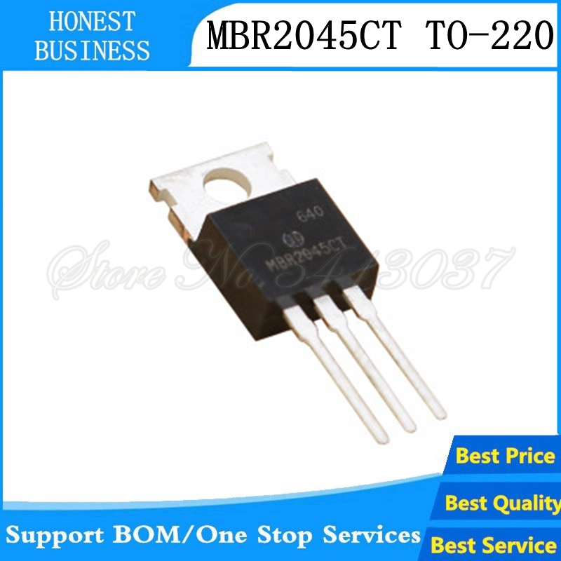 10pcs/lot MBR2045CT <font><b>MBR2045</b></font> 20A 45V diode T0-220 TO-220 In Stock image