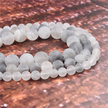 Wholesale Fashion Jewelry Frosted Cloud Crystal 4/6/8/10 / 12mm Suitable For Making Jewelry DIY Bracelet Necklace