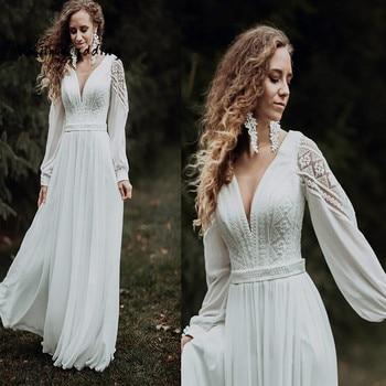 Simple Civil Boho Wedding Dress 1