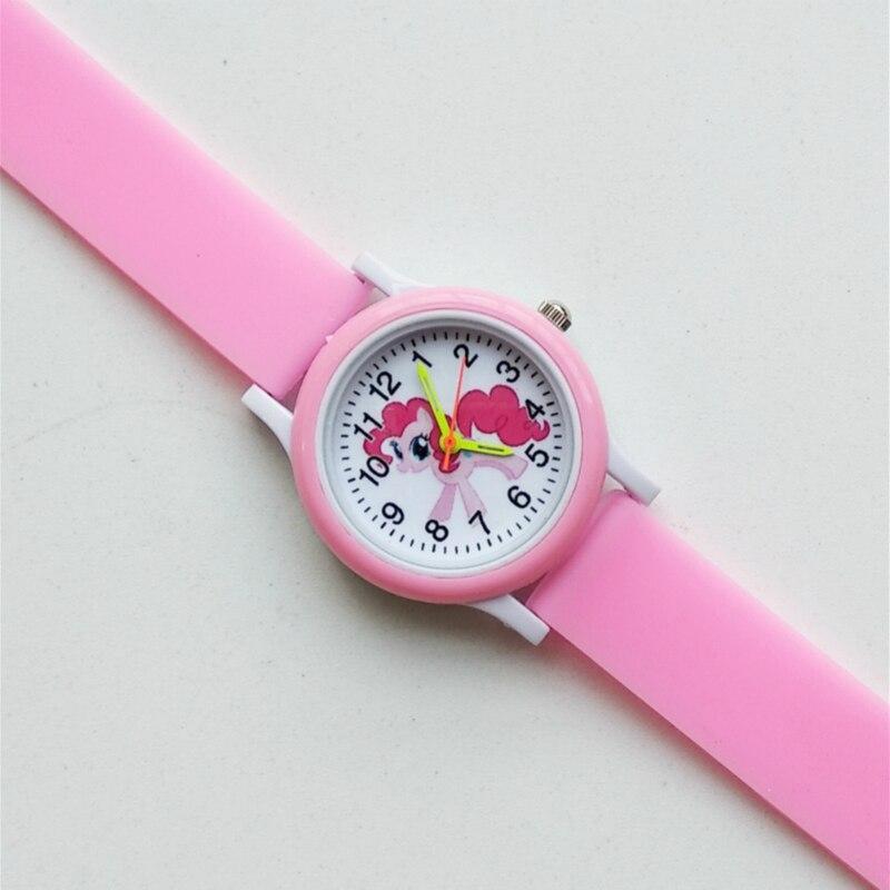Cartoon Rainbow Unicorn Style Round Dial Children's Watches Kids Watch Student Boys Girls Clock Quartz Wrist Watch Baby Pony Toy