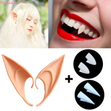 Dentures-Props Decor Ears-Set Elf False-Teeth Teeth-Fangs Party Diy Vampire Halloween