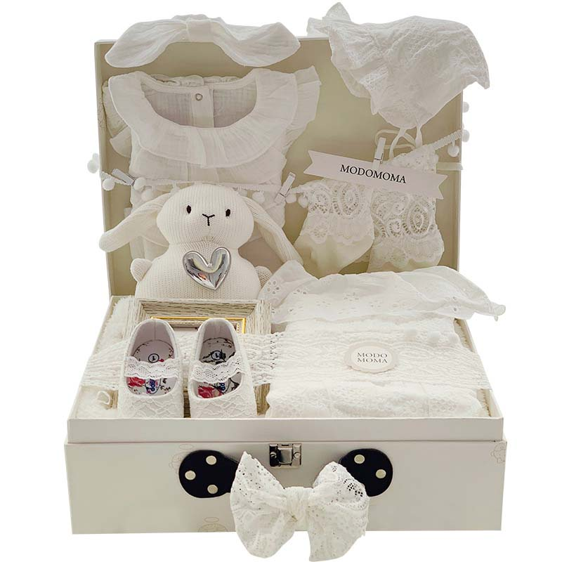 Baby Gift Box Lovely Soft Skirt Baby Summer Dream Suit Uniform Clothes Climbing Clothes Full Moon Gift Lace Princess Wind