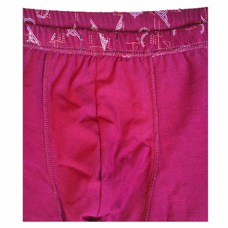 כותנה תחתוני גברים בוקסר ארבע פינה מתאגרפים חדש ווג גברים קצר מכנסיים Underwears כחול אדום חום cueca מתאגרף