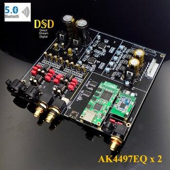 NEW Dual-Core AK4497EQ Bluetooth 5.0 DAC Decoder board Support XMOS / Amanero I2S USB Input / XLR balanced Output